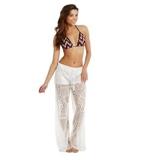 womenu0027s coverup front tie crochet pants beach swimwear swimsuit