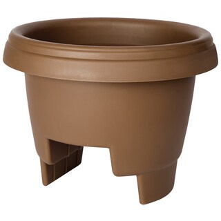 Bloem Deck Rail Planter, 12-inch, Chocolate