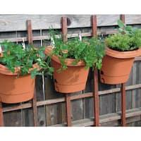 Bloem 3 Piece Hanging Garden Planter System, Terra Cotta