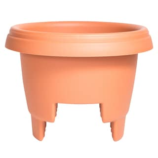 Bloem Deck Rail Planter, 12-inch, Terra Cotta