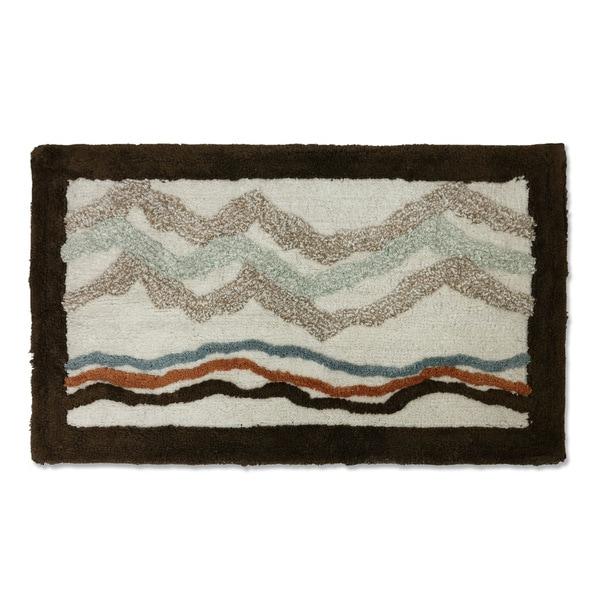 Veratex Mountain View Multicolored Cotton Bath Rug (1'8 x 2'9)