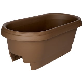 Bloem Deck Rail Planter, 24-inch, Chocolate