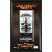 Clemson 2016 Football National Champions Ticket Pano