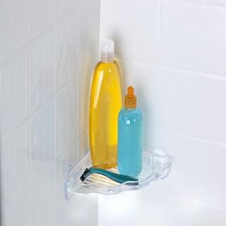 Bath Bliss Plastic Suction Corner Bath Shelf