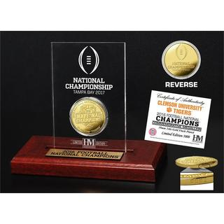 Clemson 2016 Football National Champions Gold Coin Etched Acrylic