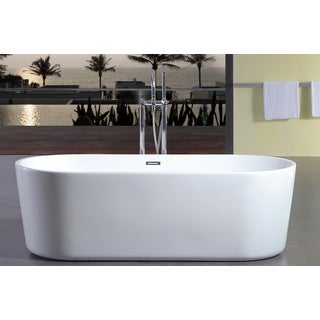 Contemporary Freestanding 60-inch Acrylic Tub
