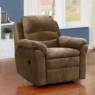 Copper Grove Roseway Brown Fabric Transitional Electric Power Recliner