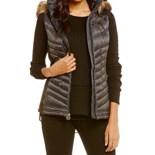 Michael Kors Black Hooded Puffer Vest (2 options available)