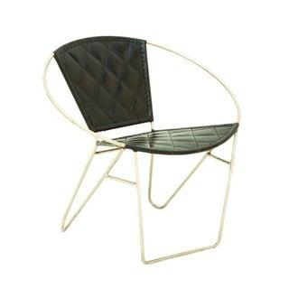 Metal Black Leather Chair