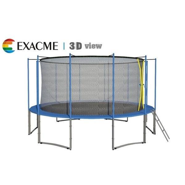 Shop 15FT 6W Legs Trampoline W/ Safety Pad & Enclosure Net