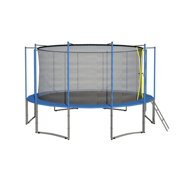 14 Ft Trampoline Combo Bounce Jump Safety: Shop 15FT 6W Legs Trampoline W/ Safety Pad & Enclosure Net