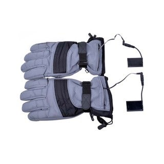 iPM Unisex Grey Cotton Blend Battery Heated Outdoor Gloves