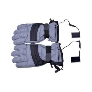 iPM Unisex Grey Cotton Blend Battery Heated Outdoor Gloves