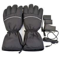 iPM Unisex Black Cotton Blend Electric Heated Gloves