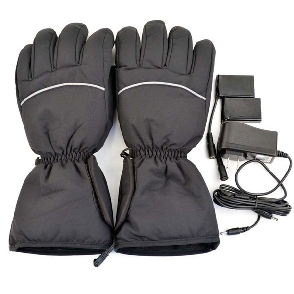 iPM Unisex Black Cotton Blend Electric Heated Gloves