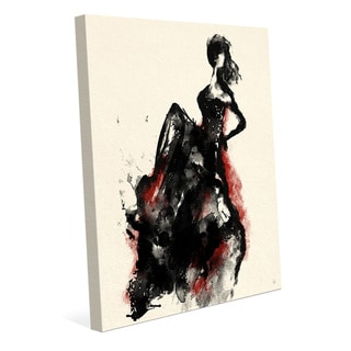 Link to 'Woman in Dress' Red Canvas Accent Wall Art Print Similar Items in Canvas Art