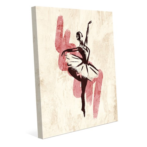 'Gestural Ballerina Pink' Wall Art Print on Canvas
