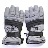 iPM Winter Warm Grey Cotton/Nylon Outdoor Heated Gloves with 3 Levels