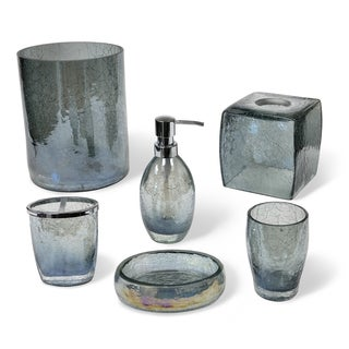 brown glass bathroom accessories. veratex cracked blue glass bathroom accessories collection brown i