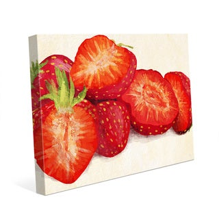 'Painted Strawberries' Canvas Wall Art