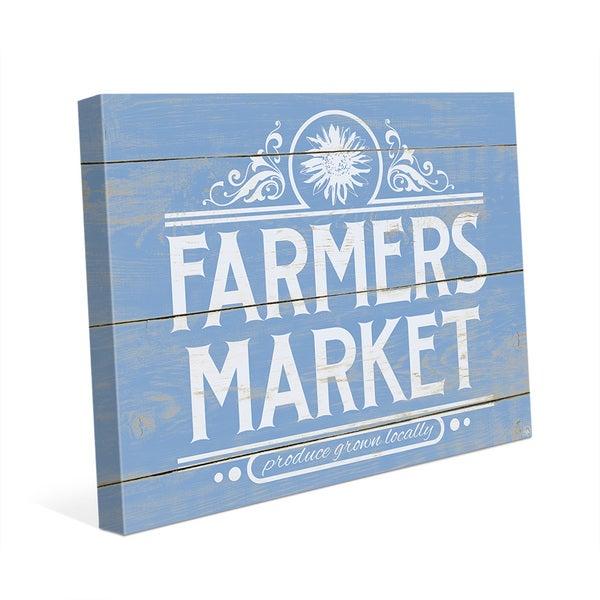 'Farmers Market Sign' Wall Art Print on Canvas
