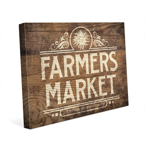 'Farmers Market' Canvas Wall Art