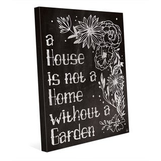 'Home with a Garden Chalkboard' Canvas Wall Art