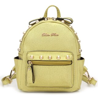 Hearty Trendy BR Series Metallic Studded Mini Backpack (Option: Gold)