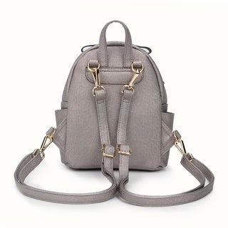 BeBe Rose Metallic Studded Mini Backpack