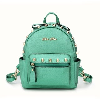 BeBe Rose Metallic Studded Mini Backpack
