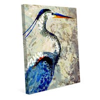 Painted Crane Canvas Wall Art Print