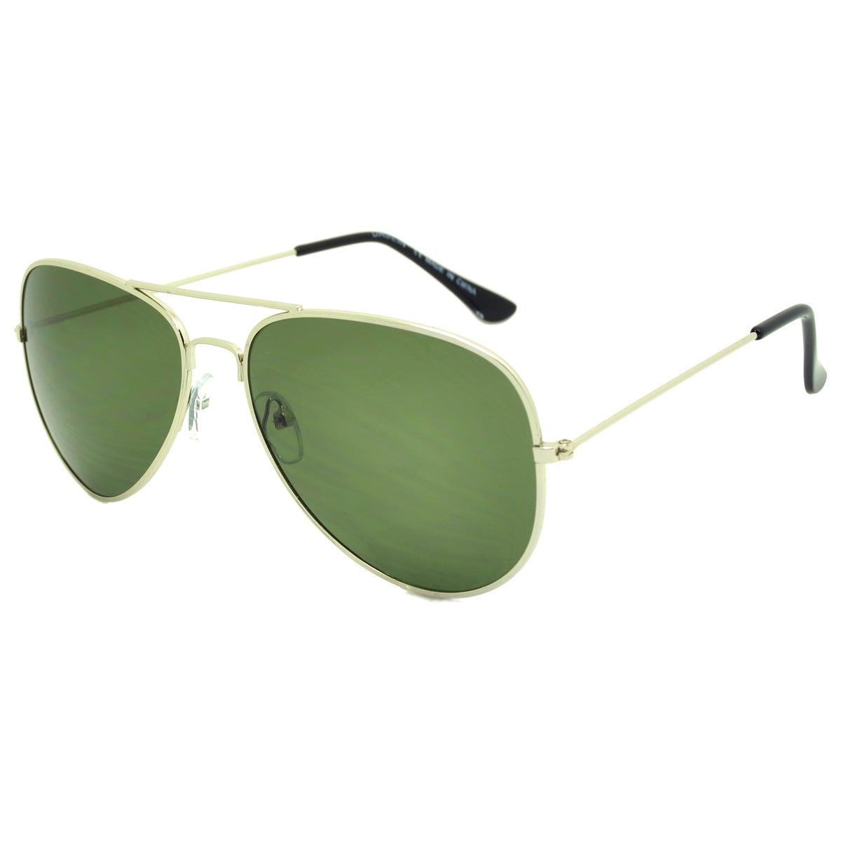 Dasein Fashion Flat Mirrored Lens Metal Arm Aviator Sunglasses