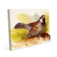 'Curious Sparrow' Canvas Wall Art Print