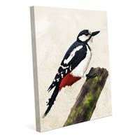 'Great Spotted Woodpecker' Canvas Wall Art
