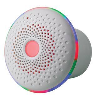 iBasics Float and Flow White Waterproof LED Bluetooth Tub Speaker