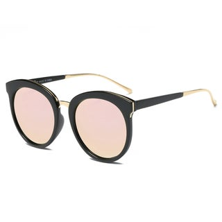 Dasein Fashion Retro Round Sunglasses with Metal Nose Bridge