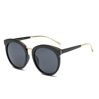 Dasein Fashion Retro Round Sunglasses with Metal Nose Bridge (More options available)