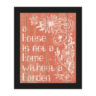 Home With a Garden Red Framed Canvas Wall Art