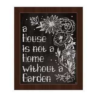 'Home With a Garden' Framed Canvas Wall Art