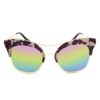 Dasein Oversized Cateye Butterfly Mirrored Sunglasses