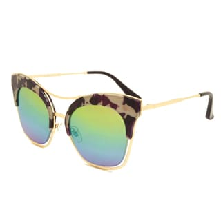 Dasein Oversized Cateye Butterfly Mirrored Sunglasses