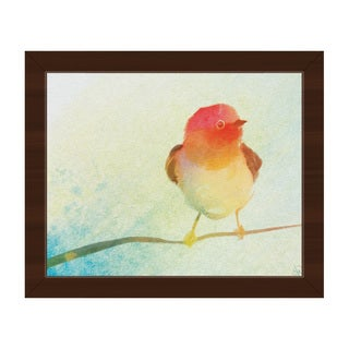 Passion Tinted Robin Framed Canvas Wall Art Print
