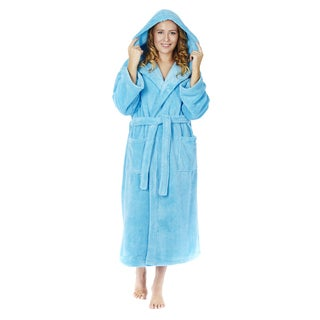 Women's Hooded Fleece Bathrobe Turkish Soft Plush Robe (More options available)