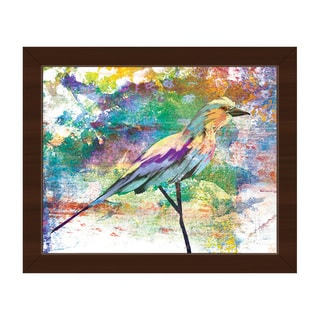 Wisteria Breasted Roller Framed Canvas Wall Art