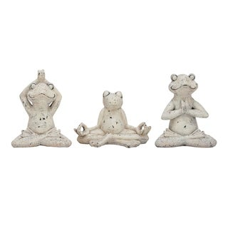 Studio 350 PS Frog Set of 3, 12 inches, 10 inches, 9 inches high