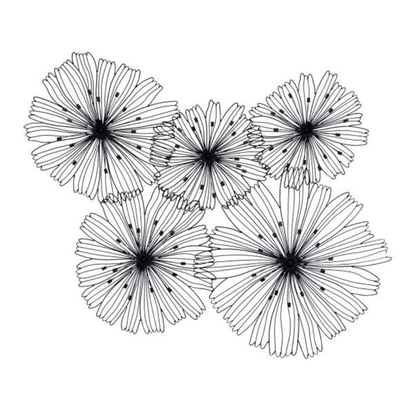 Benzara Metal Flower Wall Decor
