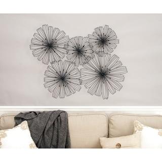 Benzara Metal Flower Wall Decor