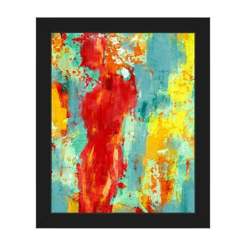 'Abstract Figure Pop' Framed Canvas Wall Art