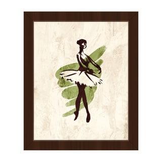 'Gestural Ballerina EnPointe' Framed Canvas Wall Art
