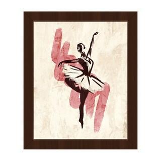 'Gestural Ballerina Pink' Framed Canvas Wall Art